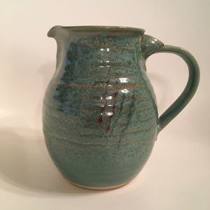 Pottery Stoneware Pitcher Glazed Hand Crafted